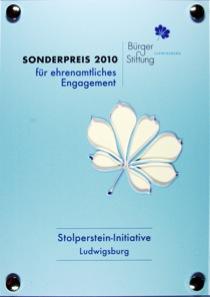 Ehrenamtspreis der Bürgerstiftung Ludwigsburg