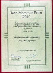 Karl-Mommer-Preis für Stolperstein-Initiative